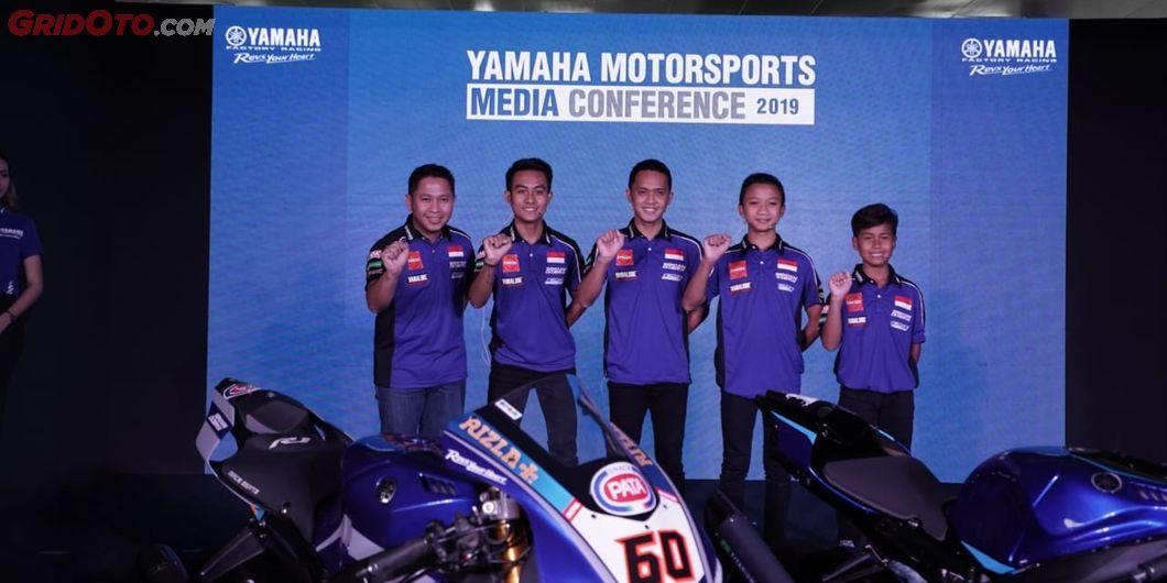 Inilah para pembalap Yamaha Racing Indonesia yang akan berlaga pada ajang Asia Road Racing Champions