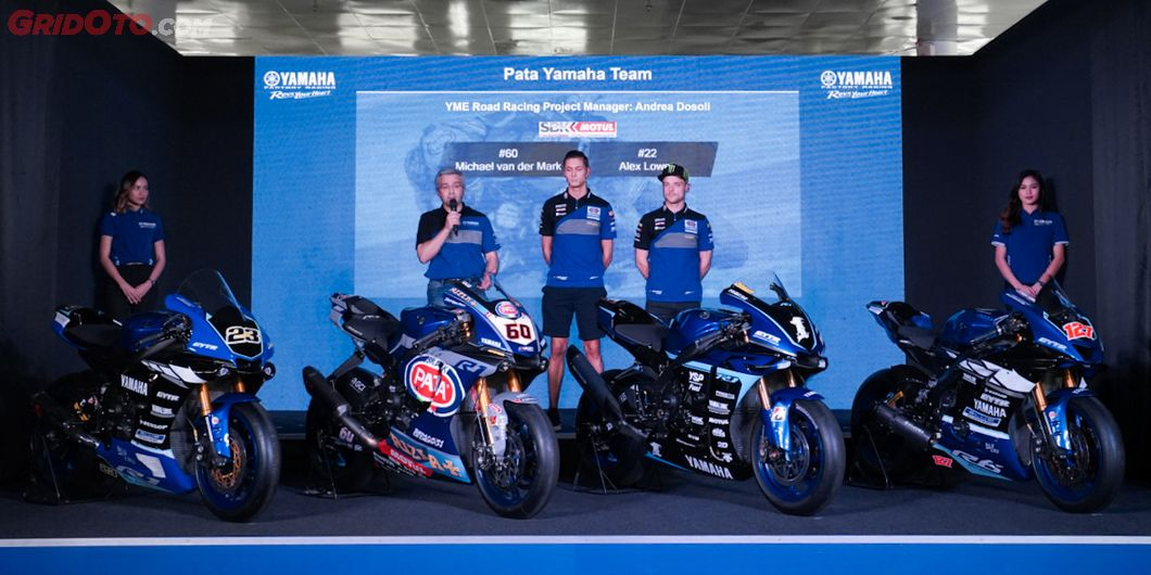 Alex Lowes dan Michael Van der Mark akan mengisi slot tim Pata Yamaha Racing WorldSBK