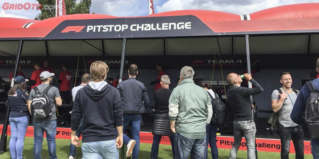 Pitstop Challenge, di area F1 Fan Zone – Photo : Antonio Beniah Hotbonar