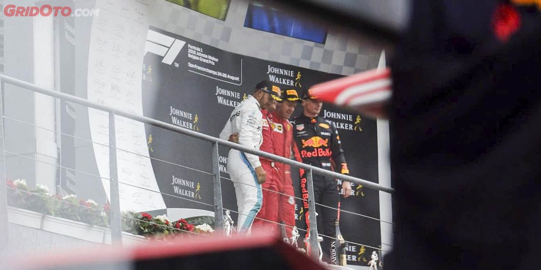Podium juara F1 Belgia 2018 – Photo : Antonio Beniah Hotbonar