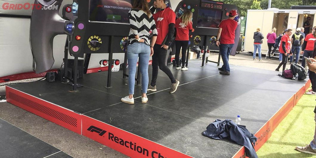 Reaction Challenge, di area F1 Fan Zone – Photo : Antonio Beniah Hotbonar