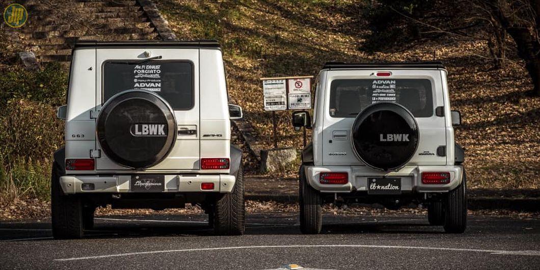 Tampilan buritan Suzuki Jimny garapan Liberty Walk