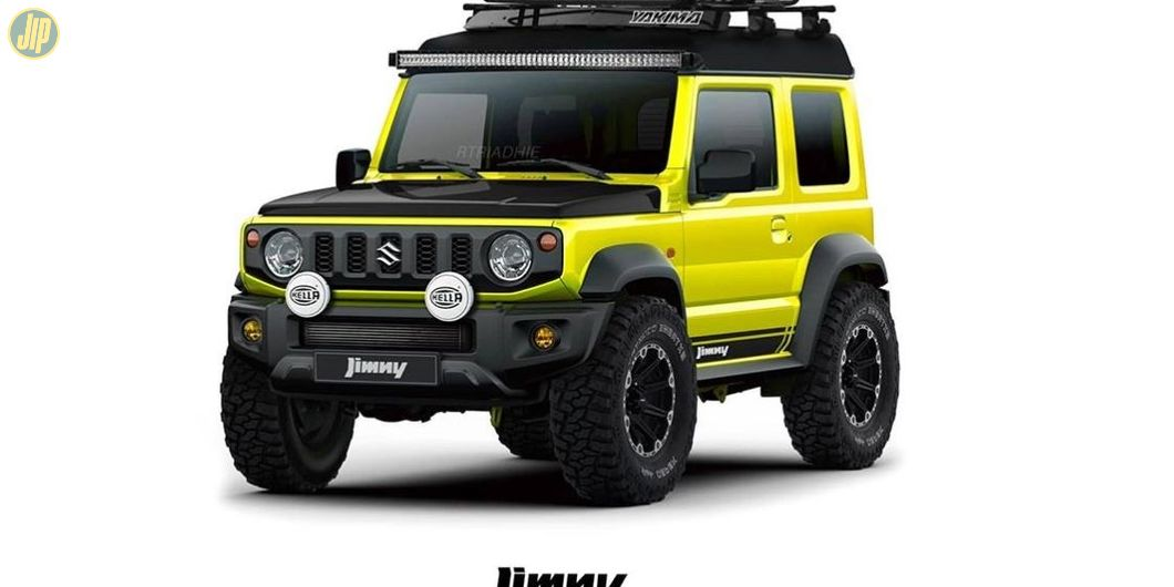 Modifikasi digital Suzuki Jimny bergaya off-road