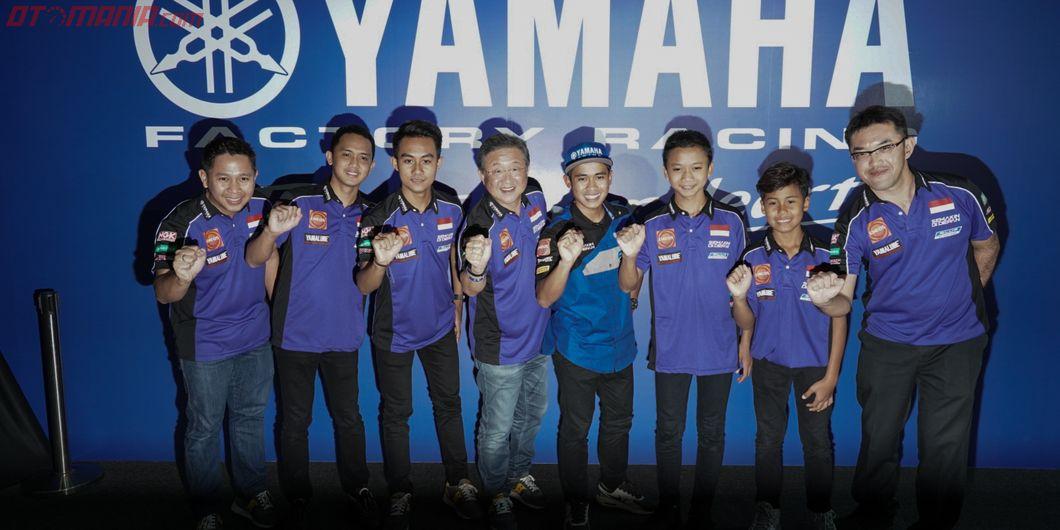 Tim Yamaha Racing Indonesia pada acara Yamaha Motorsports Media Conference 2019