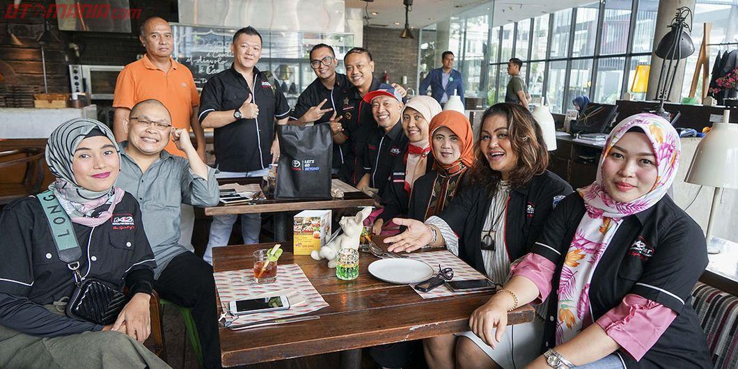 Komunitas pencinta Toyota Fortuner, id42ner menjadi tamu dalam acara seremoni pelepasan Tim Toyota F