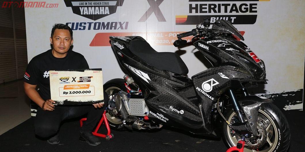 Pemenang kelas master Yamaha Aerox