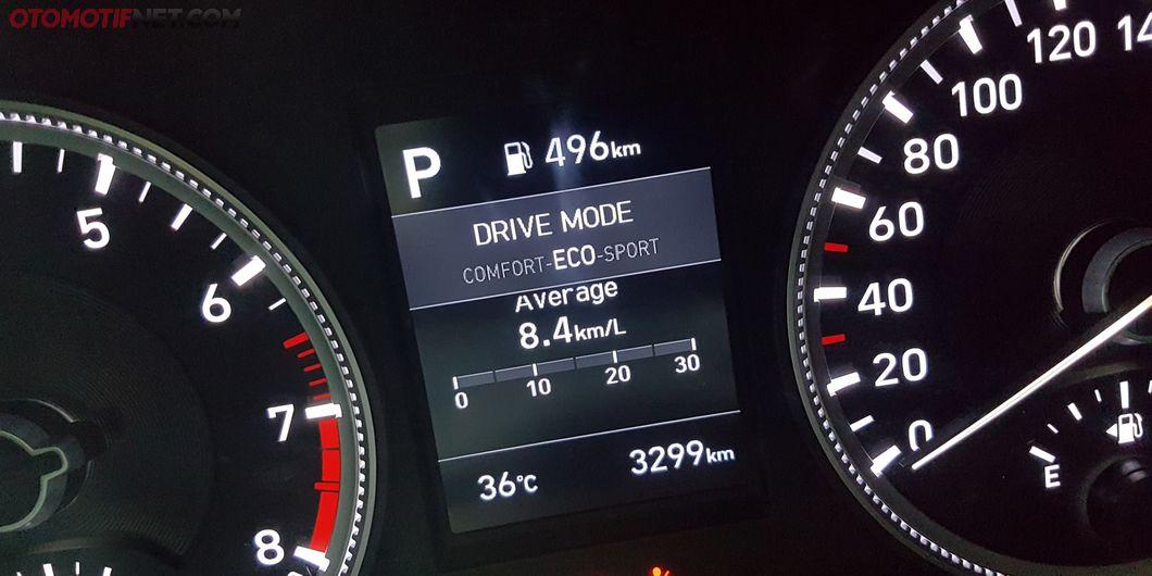 Mode berkendara ECO di Hyundai Santa Fe XG 2.4