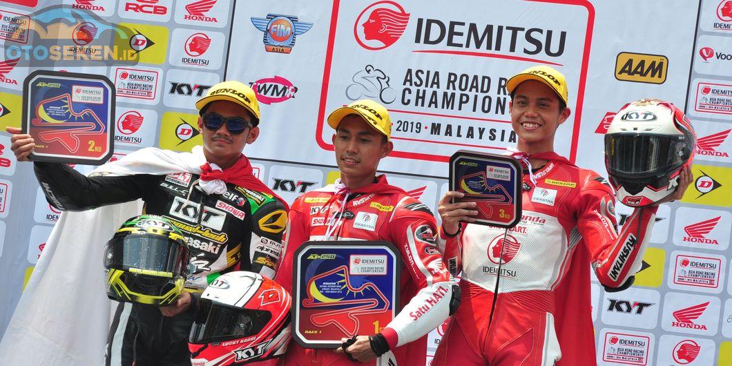 Tiga pembalap Indonesia menguasai podium di kelas AP250