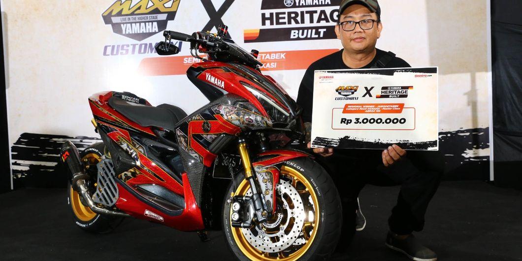 Yamaha Aerox 155 pemenang kelas master semifinal Customaxi Bekasi