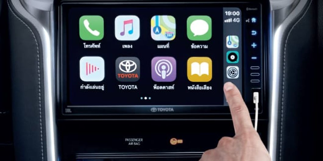 Head unit 9 inci dengan disematkan Apple Car Play