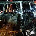 Toyota Kijang Jadi Rongsokan, Ludes Dilahap Api Dari Lilin, Sempat Dikemudikan