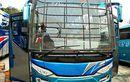 Mirip Kandang Burung, Wajah Bus Lintas Sumatera Dipasang Tralis Model Jaring, Alasannya Bikin Ngelus Dada