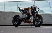 BMW R1250GS Jadi Cafe Racer Futuristik, Bodi Radikal, Peleknya Karbon