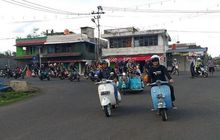 naik vespa, walikota pagaralam pimpin konvoi rolling thunder bersama puluhan komunitas