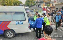 pengendara motor diduga mabuk asal nyelonong, truk langsung dihantam, satu orang meninggal dunia