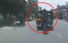 kawanan bajing loncat lakukan aksi di siang bolong, pelaku ancam perekam video di atas suzuki smash