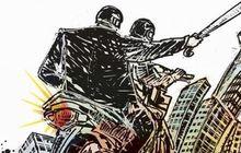 geng motor di garut berulah, warga lagi asyik nongkrong malah dibacok