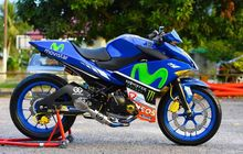 yamaha jupiter mx 135 jadi sport fairing, part-partnya ikut upgrade