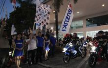 ratusan bikers makassar, ramaikan suzuki saturday night ride