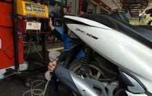 uji emisi motor baru di bengkel mobil, hasilnya lolos ambang batas?