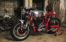 royal enfield classic 500 ganti tampang cafe racer, mesin jadi 612cc