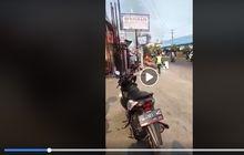viral video pemuda bakar motor karena tak terima ditilang, begini penjelasan polisi