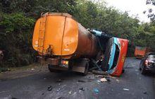 duka di lampung, truk tangki merangsek masuk ke bus rosalia indah, 9 orang meninggal dunia