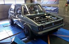 vw golf mk1 cangkok turbocharger, tenaga meronta tembus 1.300 dk
