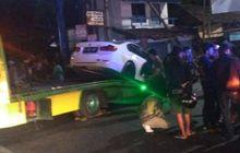 ngenes, remaja 18 tahun bawa sedan bmw tabrak tiang listrik, pengendara diduga mabuk