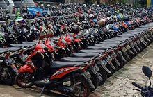 BeAT, Scoopy Sampai Fino Baris Sejajar, 'Kepala' Hadap Kiri, Viral di Tangerang