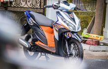 Modif Honda Vario Techno 110, Kombinasi Warna dan Part Bikin Kece!