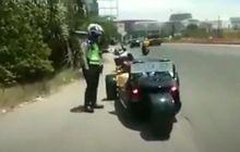 Waduw, Viral Video Motor Roda Tiga Mewah Punya Bupati Karawang Ditilang Polisi, Dikira Modif Kali Ya?