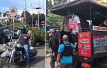 Viral Lolos Razia Ganjil-Genap di Bogor, Rombongan Moge Diangkut Truk Pemburu Pelanggar PPKM