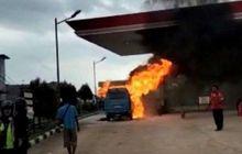 Suzuki Carry Tiba-tiba Meledak dan Terbakar Saat Isi Bensin, Korban Meninggal Bertambah