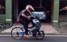 Kocak, Yamaha NMAX Dikawinkan Dengan Sepeda Ontel, Enaknya Dikasih Nama TELMAX Atau SEMAX Ya?
