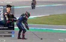 Makna Dibalik Selebrasi Main Golf Fabio Quartararo di MotoGP Belanda