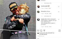 Bagikan Momen Selebrasi Kemenangan Lewis Hamilton di F1 Inggris 2021, Instagram Tim Mercedes AMG Petronas Diserbu Netizen