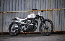Harley-Davidson Shovelhead Scrambler, Bodi Full Custom, Banyak Part Yamaha