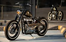Kawasaki W650 Bergaya Hardtail Bobber, Garpu Depan Punya Harley, Tangki Pinjam Honda