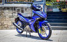Yamaha MX King 150 Berbaju Biru, Pakai Pelek CNC Sewarna Bodi