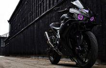 Kembaran Yamaha R25 Makin Sangar, Bodi Dibalut Decal Hitam, Headlamp Pakai LED Proyektor