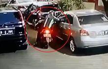Iman Oknum Berjaket Hijau Goyah, Spion Toyota Vios Ditarik Tanpa Takut Dosa