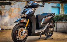 Honda SH300i Makin Sangar, Garpu Depan Copotan Moge, Rem Double Disc