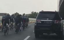 Viral Video Peleton Road Bike Masuk JLNT Antasari, Padahal Dilarang Lewat, Ini Tanggapan Polisi