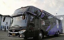Tampang Bus Rans Cilegon FC, Pakai Sasis Mercedes Benz OH 1526, Padukan Kelir Ungu Dan Hitam