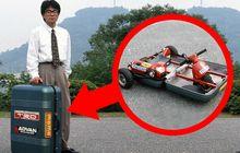 Terlalu Iseng, 7 Insinyur Mazda Sulap Tas Koper Jadi Motor Tiga Roda, Gimana Jalannya?
