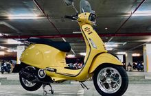 Vespa Sprint Kuning Modern, Kakinya Istimewa, Speedometer Digital