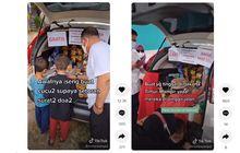 Pria Ini Buka Warung Jajanan di Bagasi Honda CR-V, Pembelinya Bikin Hati dan Mata Meleleh