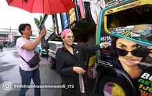 Wow, Nikita Mirzani Datangi Truk Yang Ada Gambar Muka Dirinya, Sopir Digaplok Uang Segepok