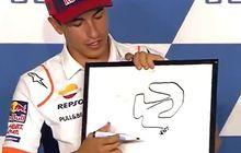 Adu Menggambar Layout Sirkuit Misano Dengan Mata Tertutup, Valentino Rossi Kalah?